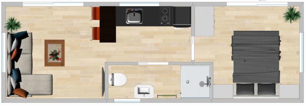 E90C 9m with inline bathroom kitchen